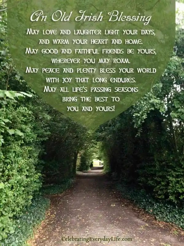 An old irish blessing a st patricks day quote celebrating old irish blessing quote encouraging quote st patricks day quote fandeluxe Images