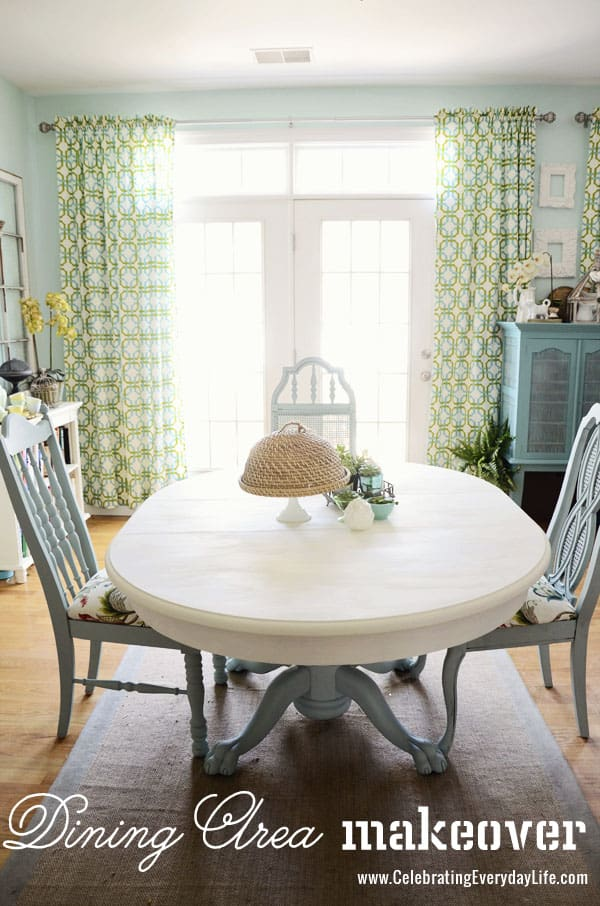 Before and After for How To Save Tired Dining Room Chairs with Chalk Paint Right Now! Turn cheap thrift store chairs into gems with paint on a budget!, Dining Table and Chairs makeover with Annie Sloan Chalk Paint, Old White Annie Sloan Chalk Paint, Duck Egg Annie Sloan Chalk Paint