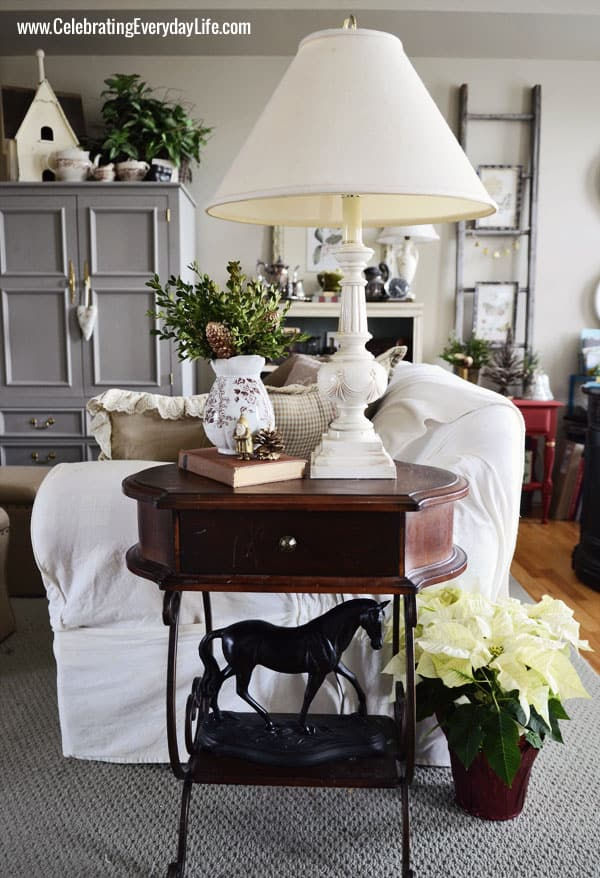 Horse statue, end table, Celebrating Everyday Life with Jennifer Carroll