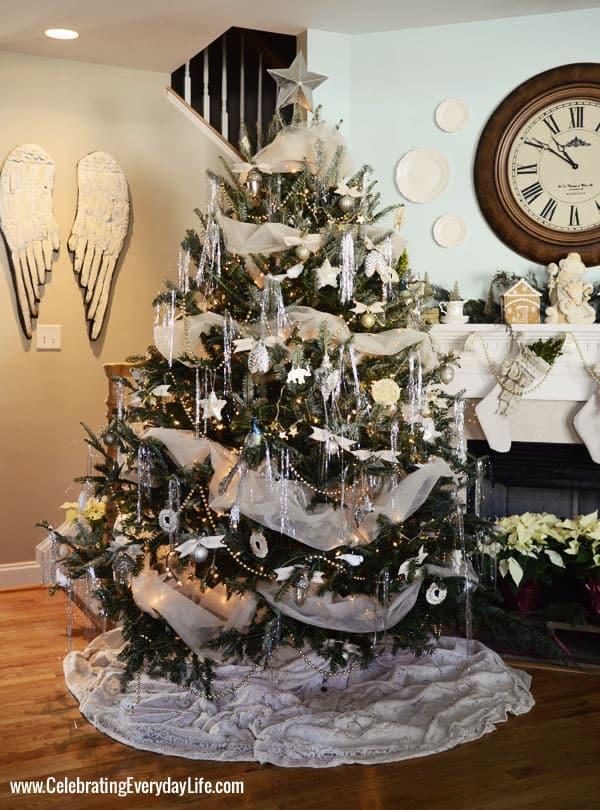 Green and Cream Christmas Tree, Celebrating Everyday Life with Jennifer Carroll