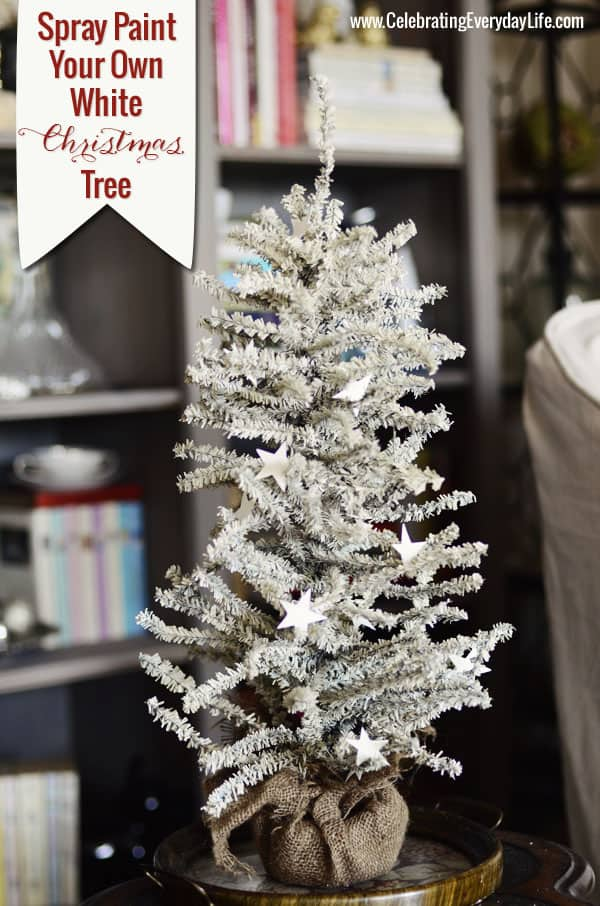 How to Spray Paint your own White Christmas Tree
