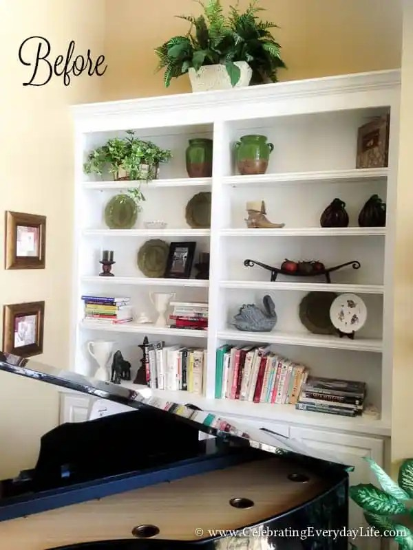 how to style bookshelves adding layers to bookshelves styling bookshelves how to decorate - How To Decorate Bookshelves