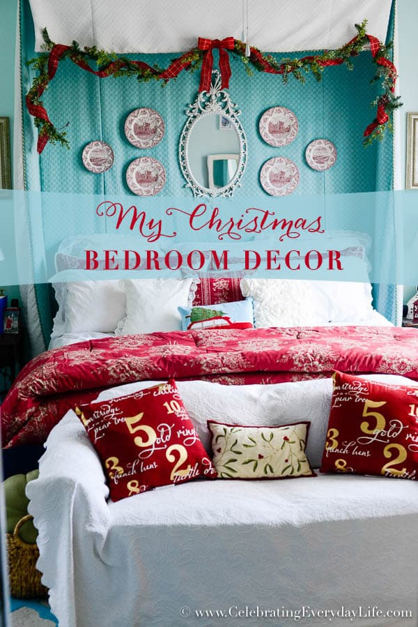 Superieur My Christmas Bedroom Decor, Red U0026 White Christmas Decor, Turquoise Red And  White Christmas