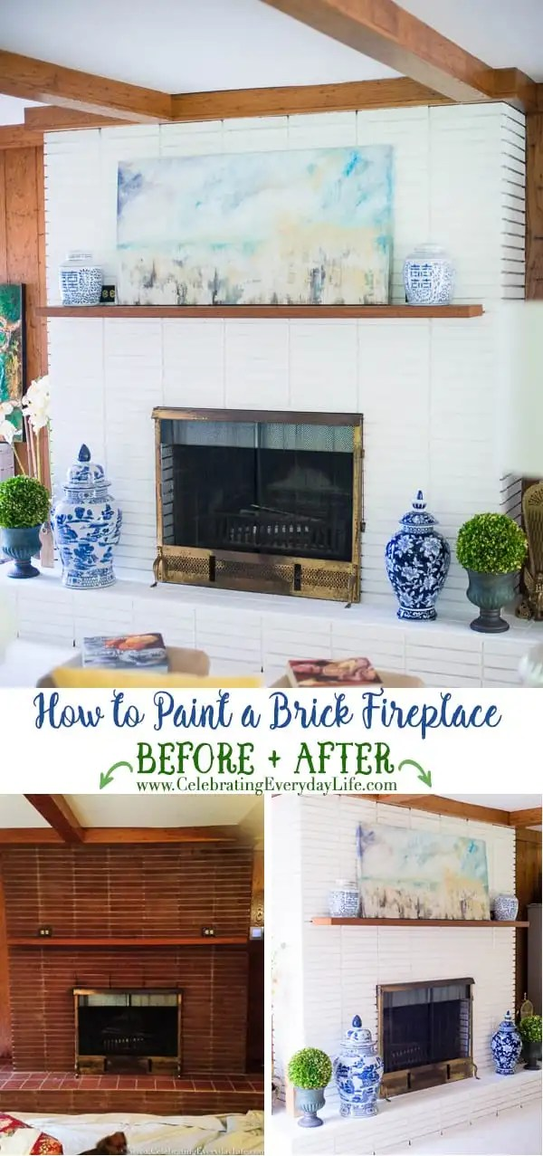 How to Paint A Brick Fireplace | Celebrating Everyday Life with Jennifer Carroll