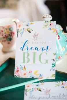Let's Set Goals and Plan to Dream BIG for 2017 + printables | Celebrating Everyday Life with Jennifer Carroll | www.CelebratingEverydayLife.com