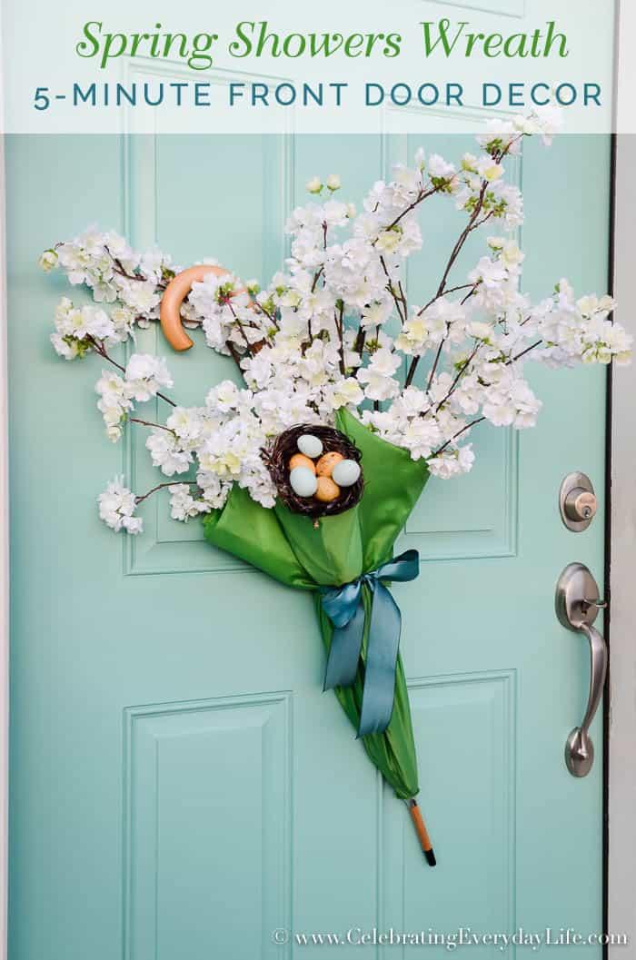 """Easy 5-minute Front Door Umbrella """"Wreath"""""""
