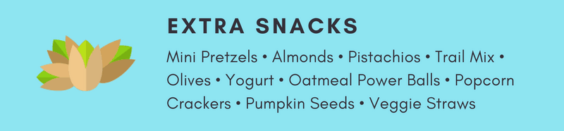 Extra Snacks. Be a Hero Mom with these Ideas for Bento Style School Lunches to make packing easy and your mornings stress-free!