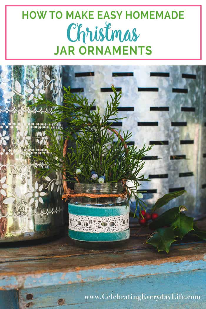 Looking for some Christmas craft ideas? Check out how to make easy homemade christmas jar ornaments! Easy and budget friendly!!