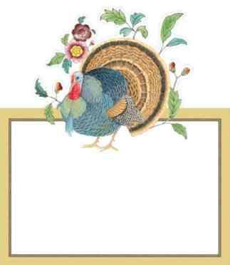 Turkey Placecards from Caspari, Thanksgiving Essentials