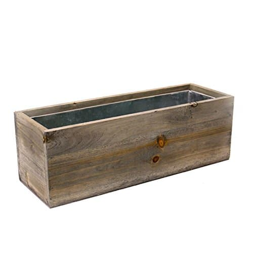 Wood Planters with Removable Zinc Liner