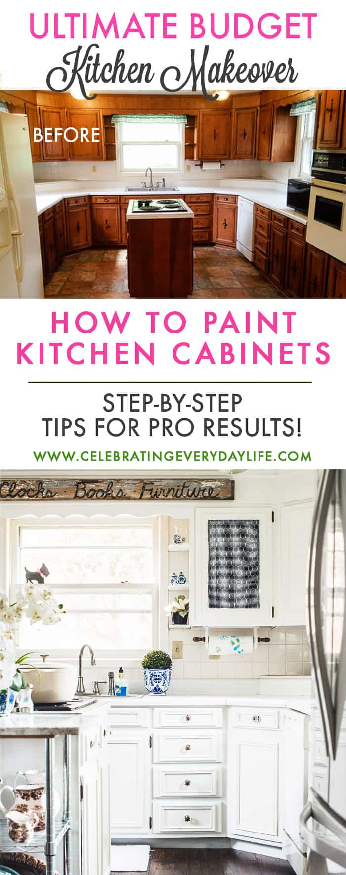 How To Turn Your Kitchen Into A Dream Kitchen With Paint! A Step By