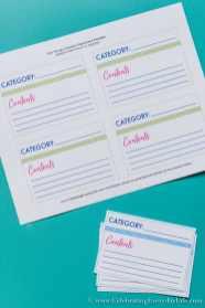 Storage Organziation Labels