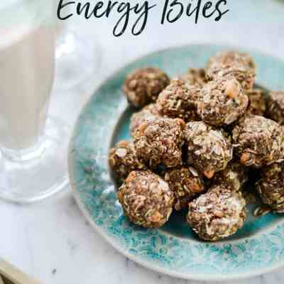 Try my Easy No Bake energy bite recipe. Also known as an Oatmeal Power Ball Recipe, this Energy ball make a delicious breakfast on the go or a satisfying snack to help you not overeat between meals!