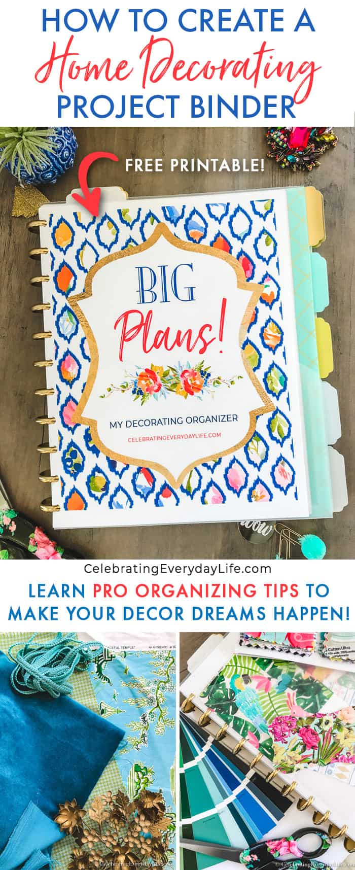 how to create a home decorating project binder
