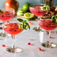 Pomegranate Basil Martini
