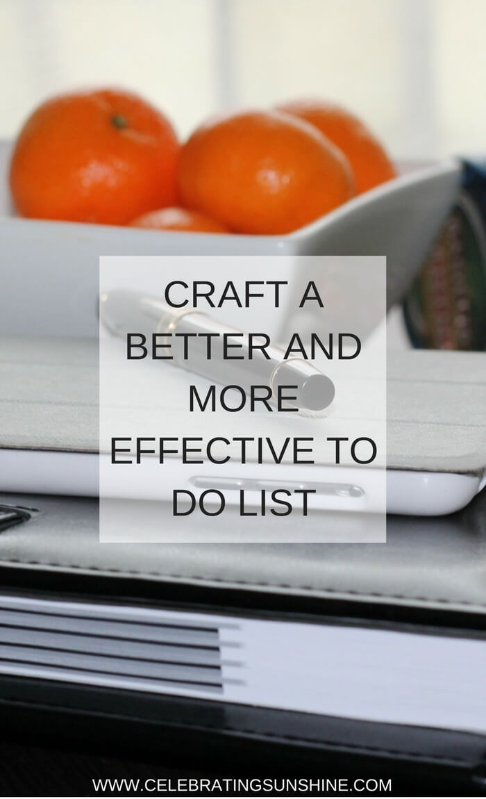 Craft a better to-do list
