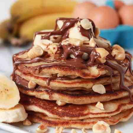 Banana Nutella Pancakes