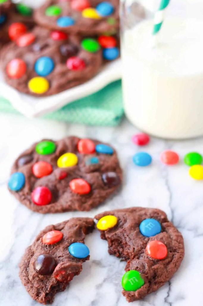 choc m&m cookies 2