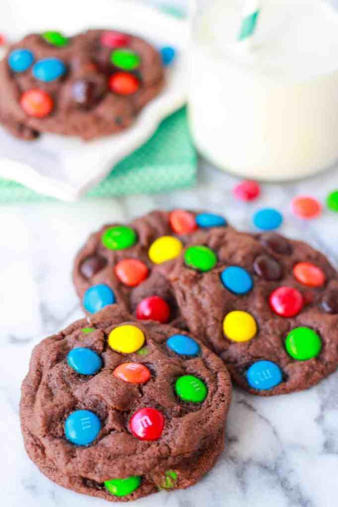 choc m&m cookies 3