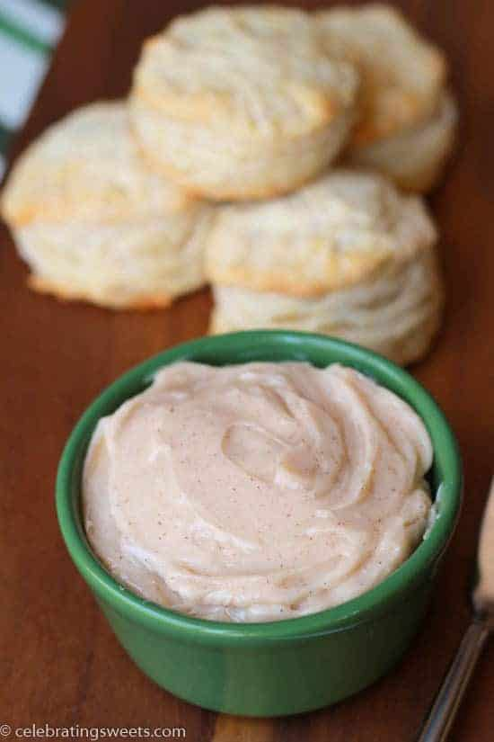 Lightly spiced and perfectly sweet butter for topping biscuits, muffins, rolls, bread, pancakes - you name it!