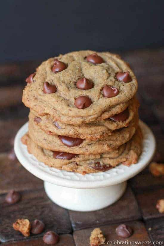 Espresso Chocolate Chip Cookies - Celebrating Sweets