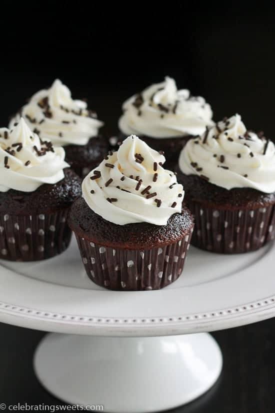 Small Batch Chocolate Cupcakes