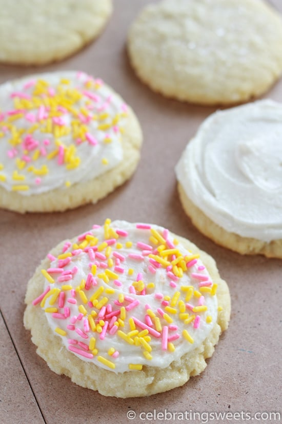 A quick and easy recipe for homemade (no roll) sugar cookies