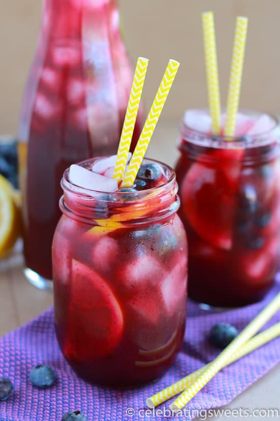 Homemade Blueberry Lemonade - SO good!
