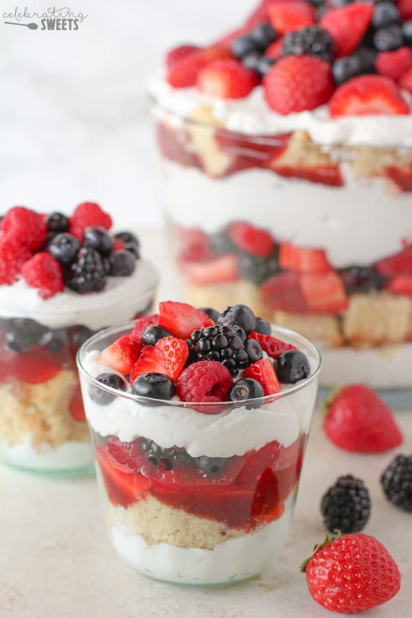 Cake And Whipped Cream In Jars