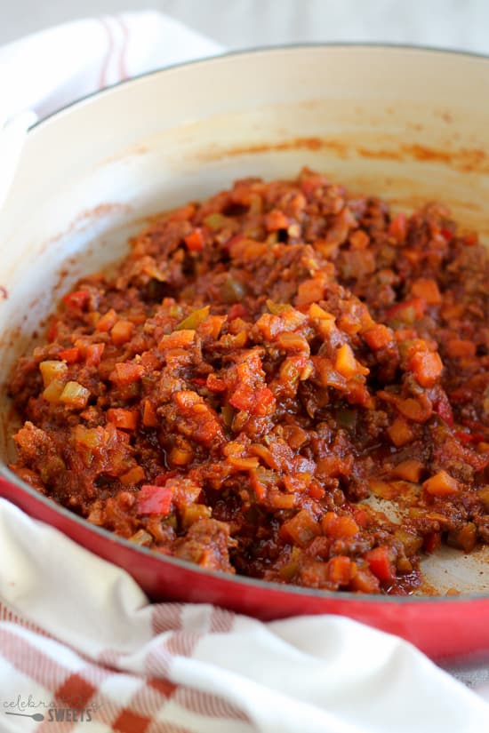 Healthier Sloppy Joes - Made with lean ground beef and lots of veggies these sloppy joes are healthy, hearty and delicious.