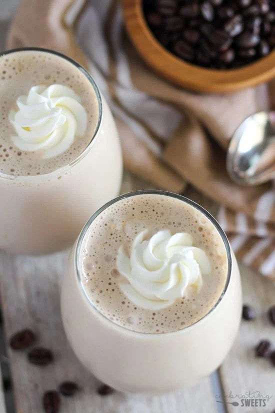 Vanilla Latte Protein Smoothie - A healthy protein-packed smoothie filled with the flavors of coffee and vanilla.