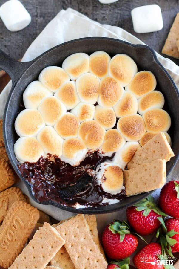 easy oven s mores dip