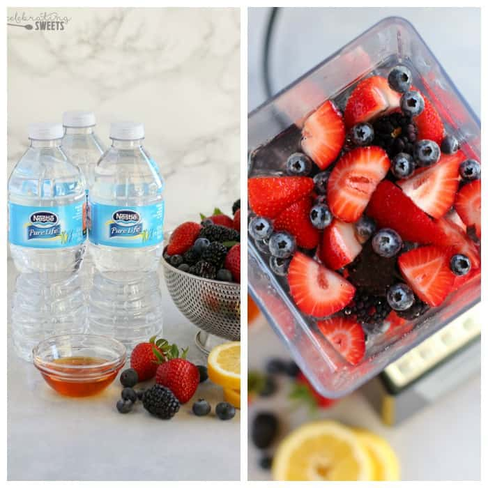 Mixed Berry Agua Fresca - Strawberries, blueberries, blackberries, honey and lemon flavor this easy spring and summer beverage.