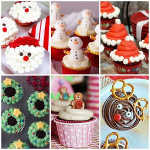 25 super cute Christmas cupcakes for all your holiday parties. #christmas #cupcakes #recipes #christmastreats
