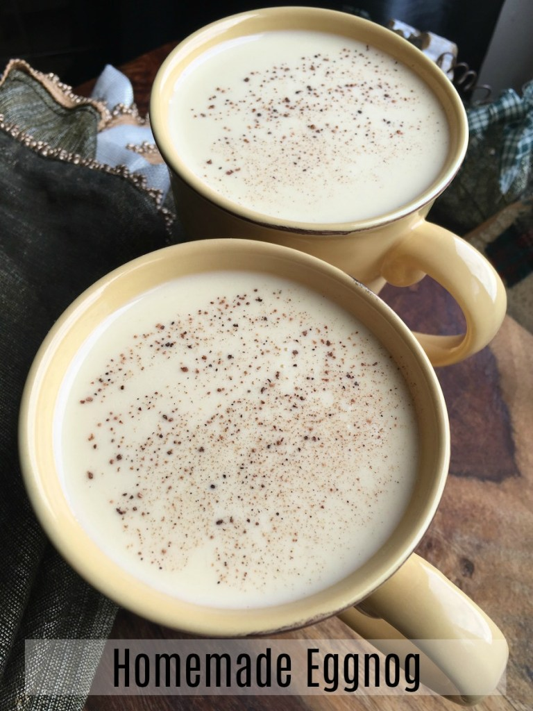 This homemade eggnog recipe is delicious with or without alcohol.
