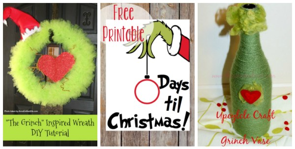 A collection of Grinch-inspired crafts and recipes