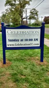 Celebration Community Church Sign