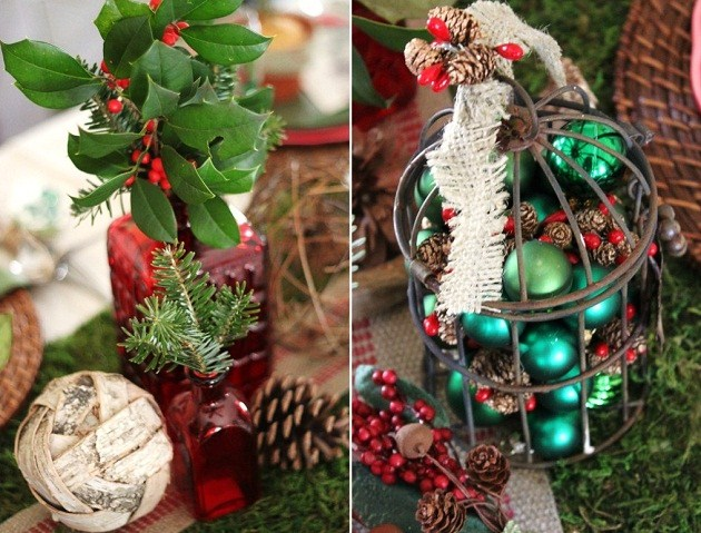 Rustic Woodland Christmas Tabletop