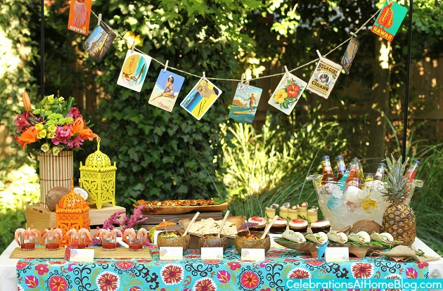 Tropical Themed Party Ideas + FREE Printables