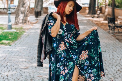 long floral maxi dress shein celebrenbeauty