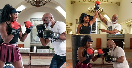 Mike Tyson and Serena Williams