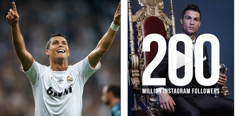 Cristiano Ronaldo Hits 200 Million Followers On Instagram Celebrities Hype