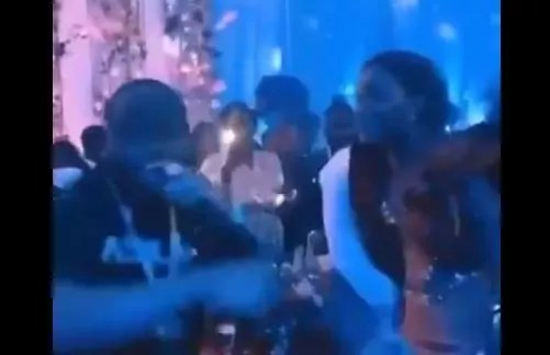 Davido performs free at couples wedding