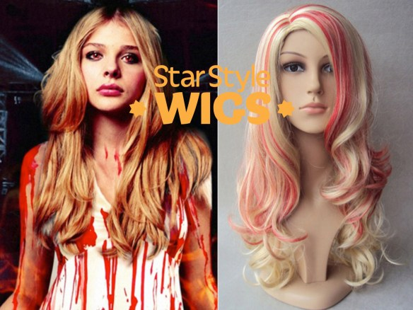 Zombie Blood Streak Costume Wig