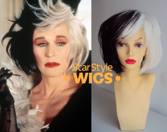 Cruella De Vil Voluminous Bob Wig