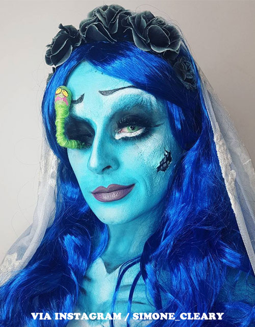 CORPSE-BRIDE MAKEUP BLUE WIG