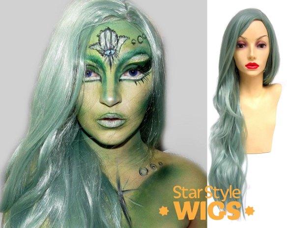 Green Alien Wig