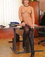 Alex Jones Breasts Panties Down Naked 001