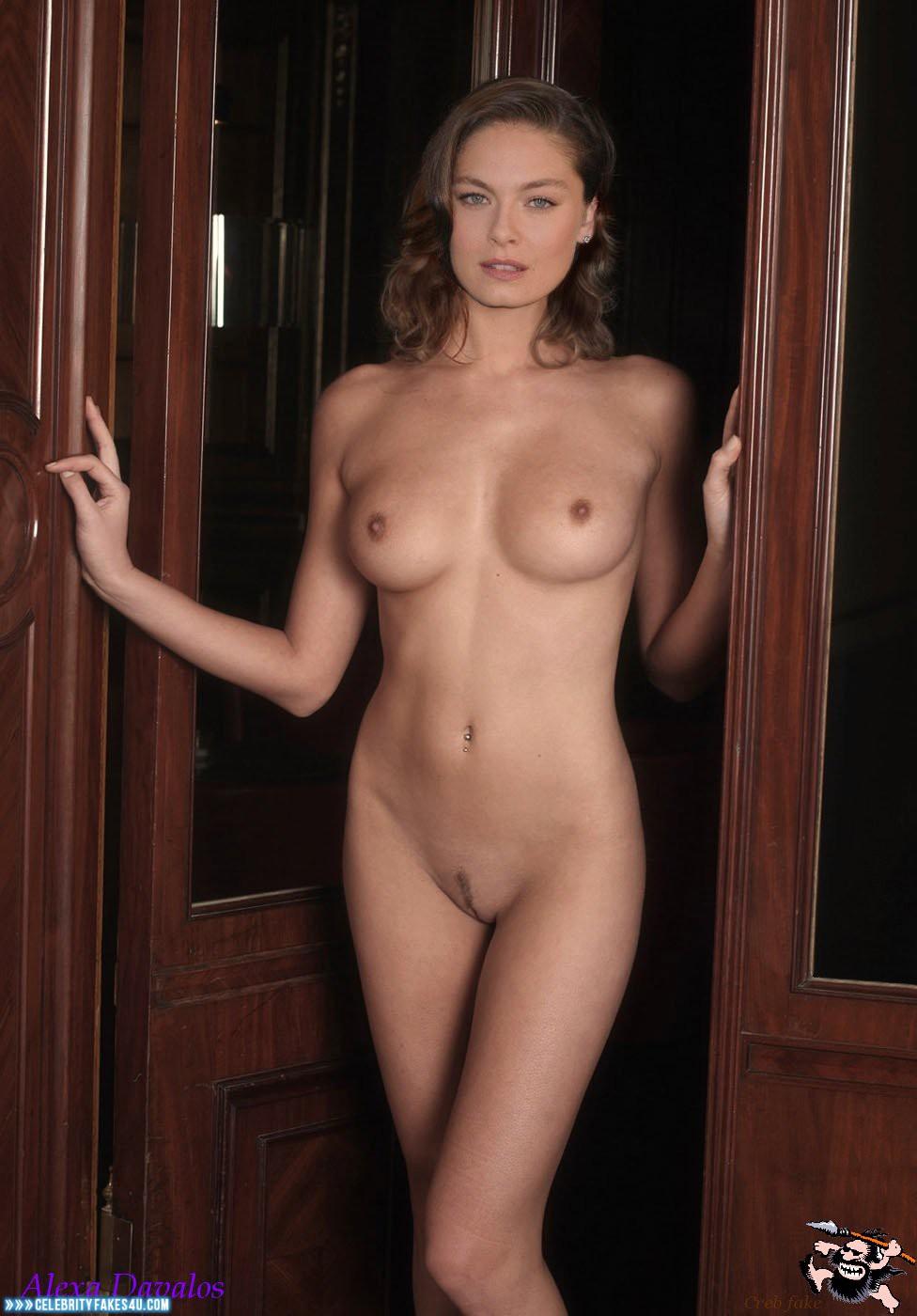 Sexy nude women in high socks