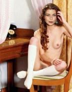 Alexis Dziena Socks Topless Fake 001